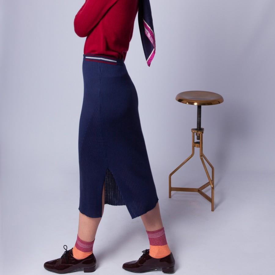 Pencil skirt in ribbed wool - Etreinte