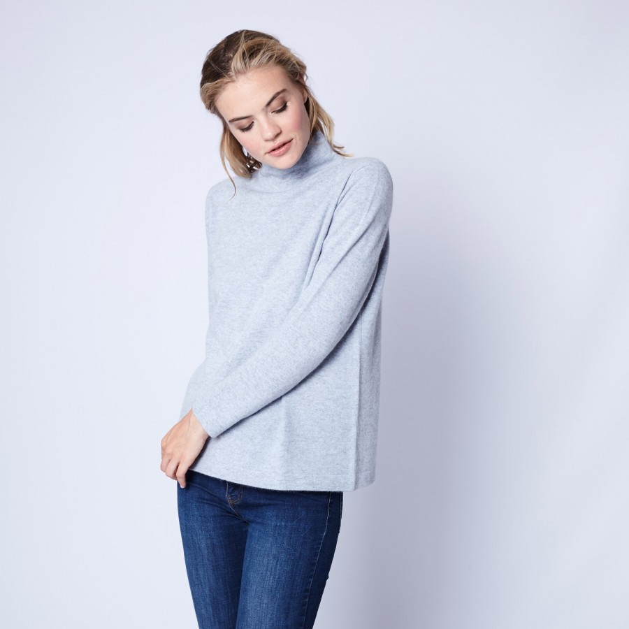 Pull en cachemire col montant Chatelet
