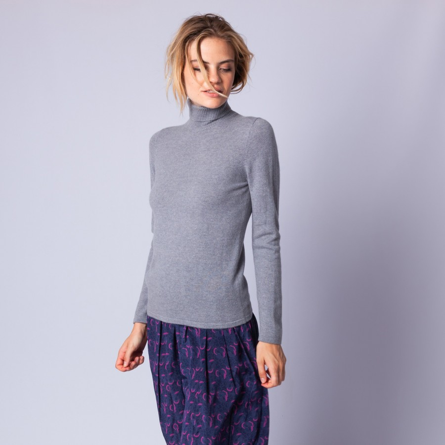 Turtleneck cashmere jumper - Eglyn