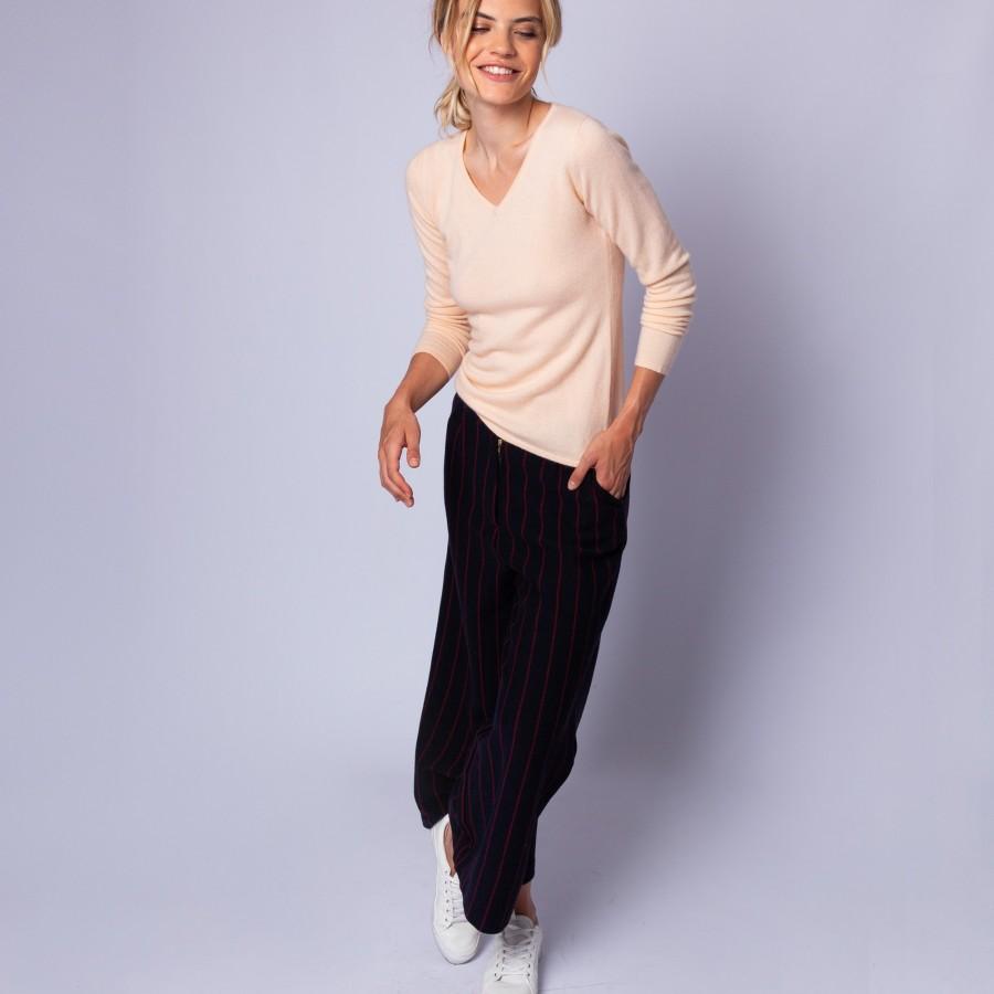 V collar cashmere jumper - Eniva