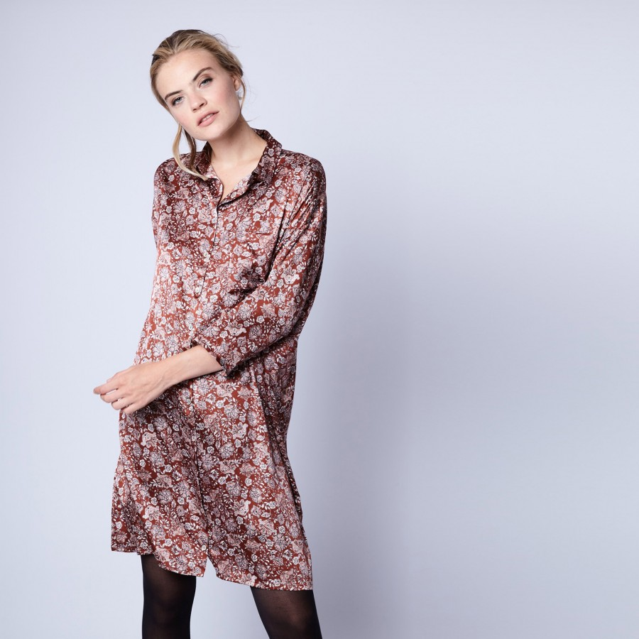 Silk shirt-dress by Maison Montagut & Maison Martin Morel - Gaspard