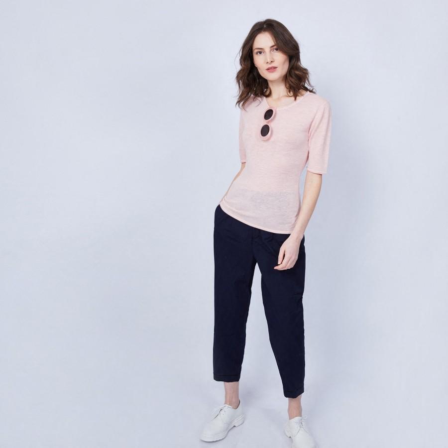 T-shirt uni col rond - Mady