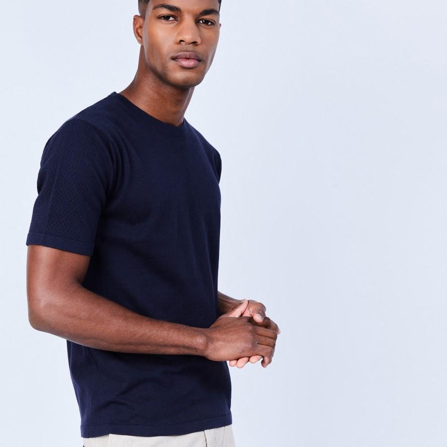 T-shirt en coton et soie - Lars