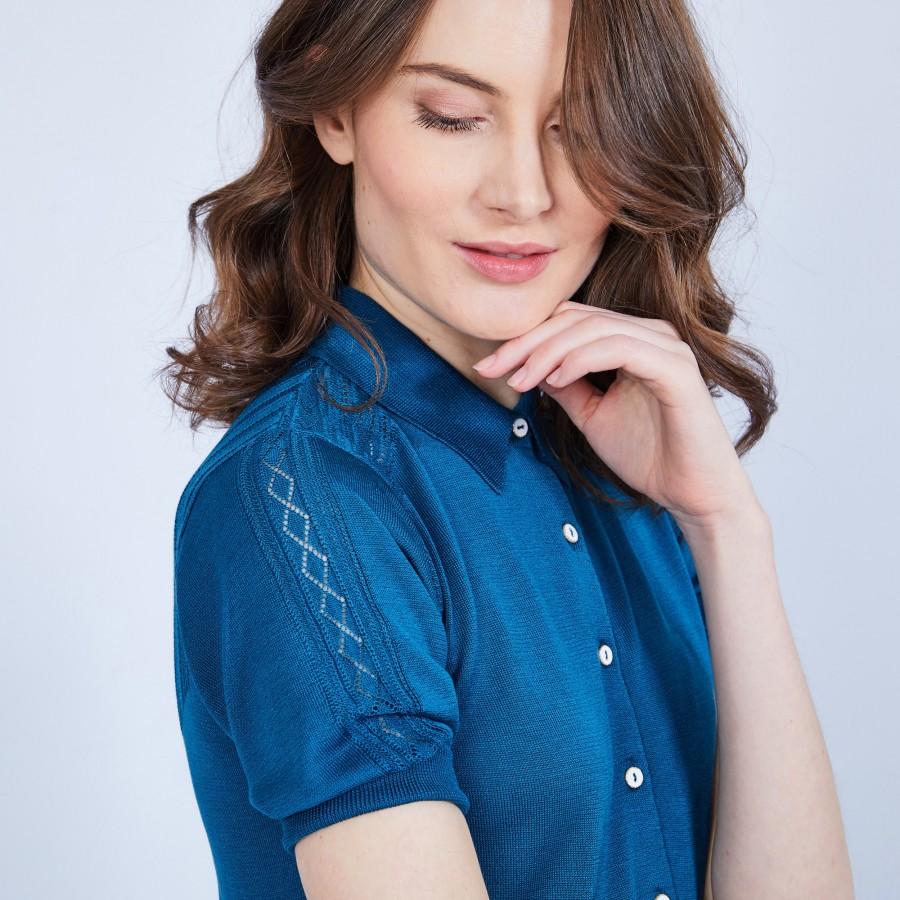 T-shirt col polo en soie - Jourdan