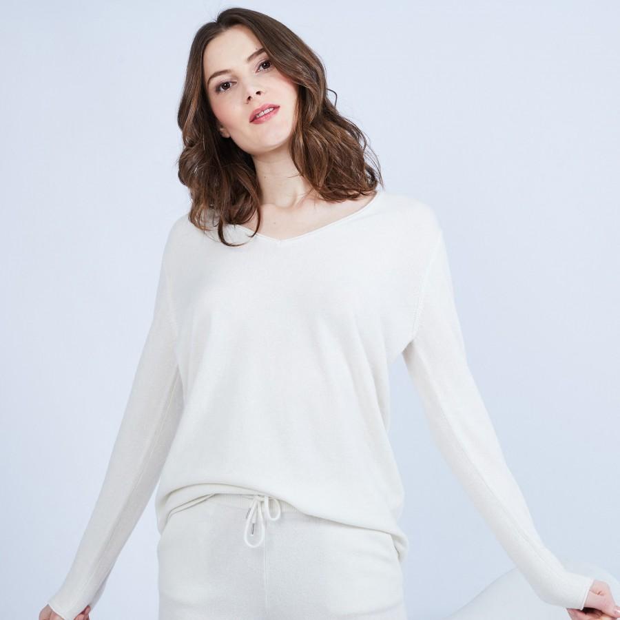 V-neck cashmere jumper – Happy