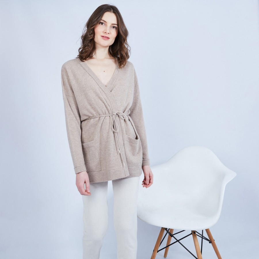 Cashmere cardigan with pockets – Hazel