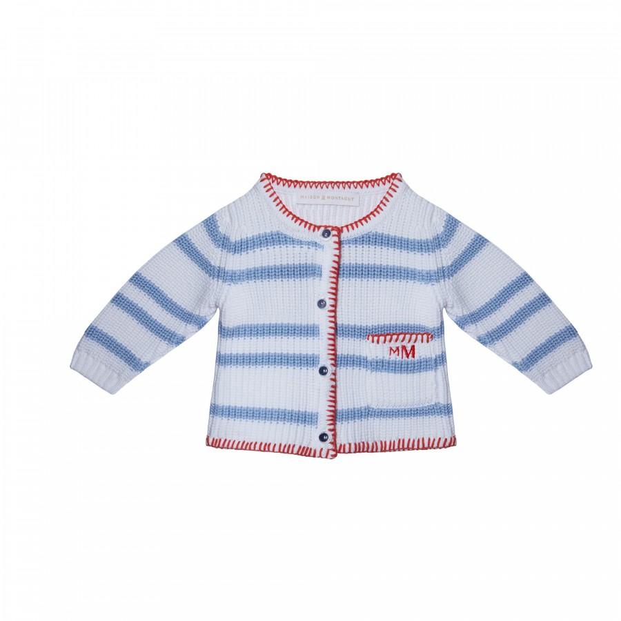 Gilet pour bébé en coton - Kent 6559 blanc mistral - 02 Blanc