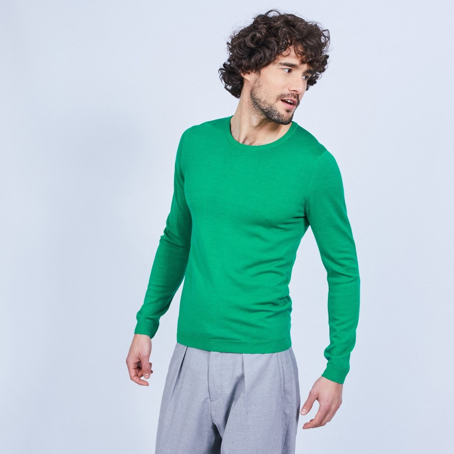 Pull col rond en laine - Luciano