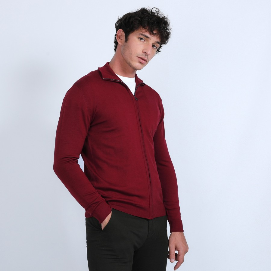 Gilet zippé en laine mérinos - Bastian