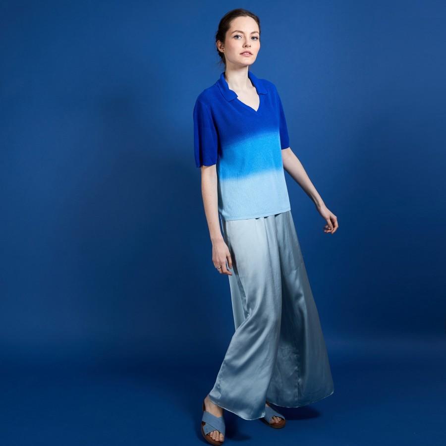 T-shirt effet tie and dye - Connor 6926 delta - 03 Bleu foncé