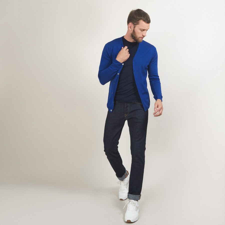 Buttoned wool cardigan - Brad