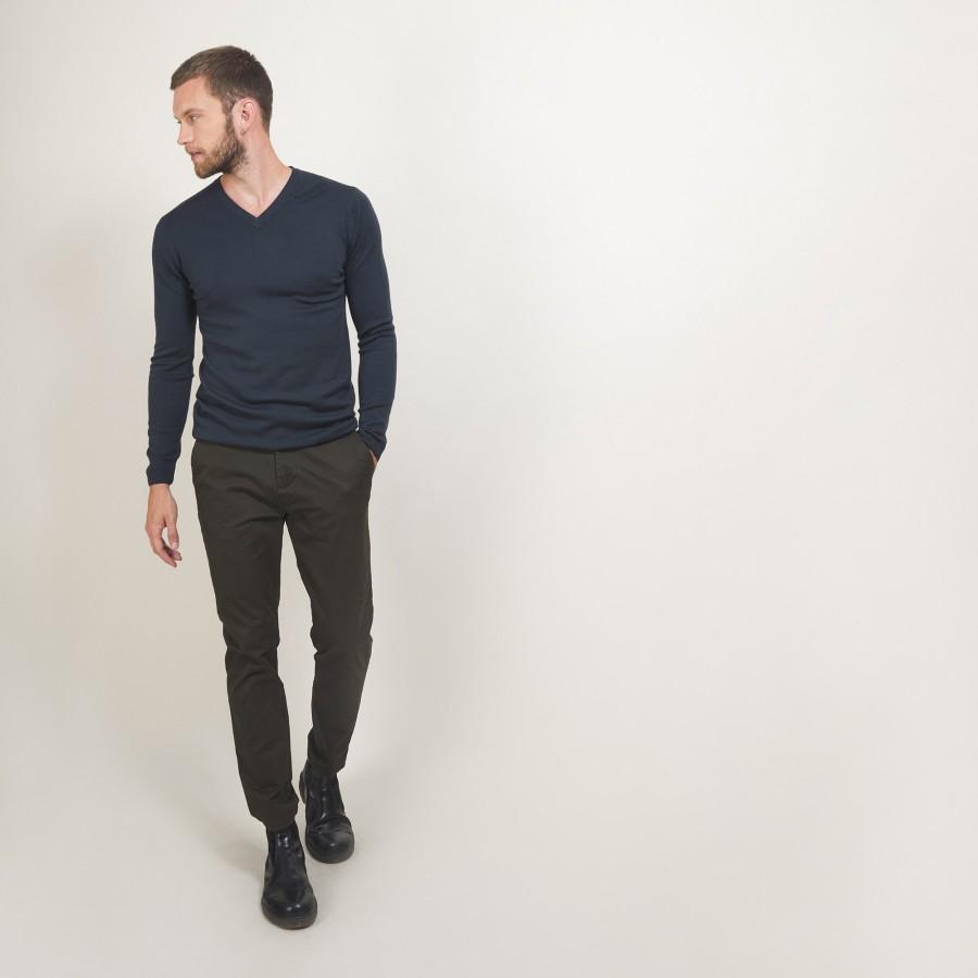 V-neck wool sweater - Badyss