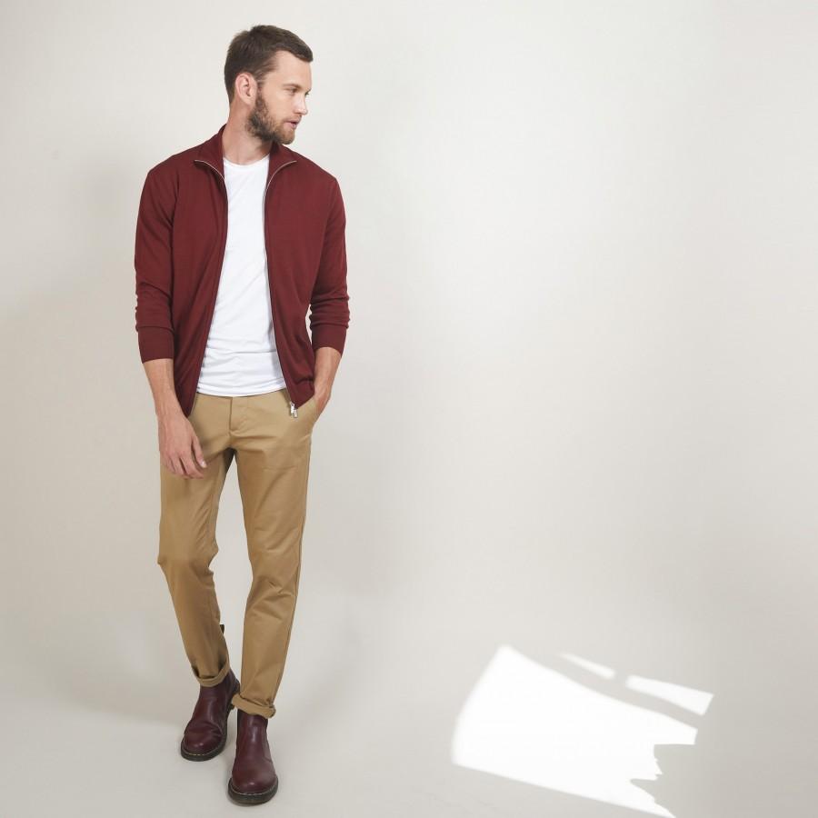 Zipped wool cardigan - Bastian