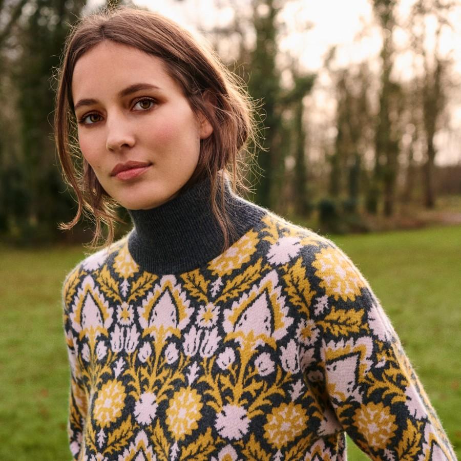 Cashmere funnel neck sweater - Garance