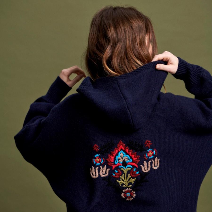 Zipped cashmere jacket - Greta