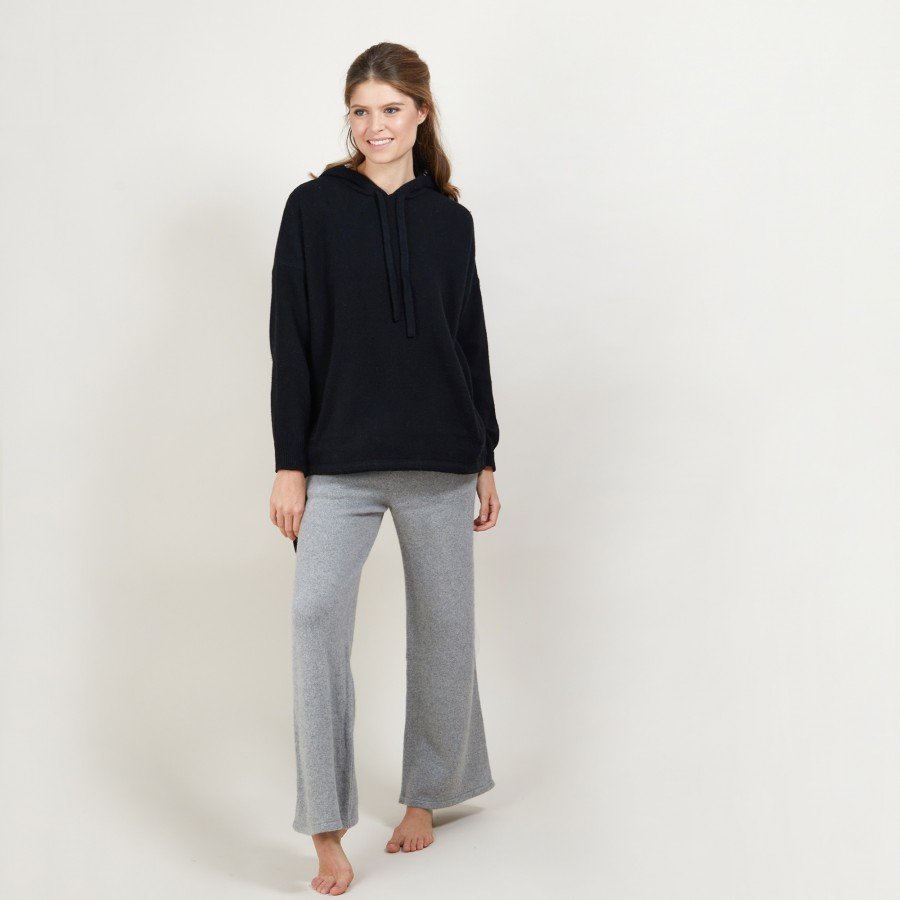 Recycled cashmere and wool hoodie Gala