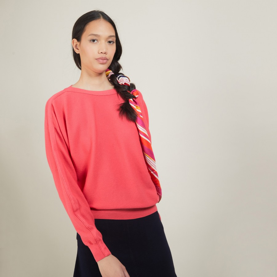 Cotton cashmere boat neck sweater - Felice