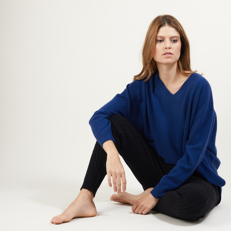 Recycled cashmere and wool pants - Gaby