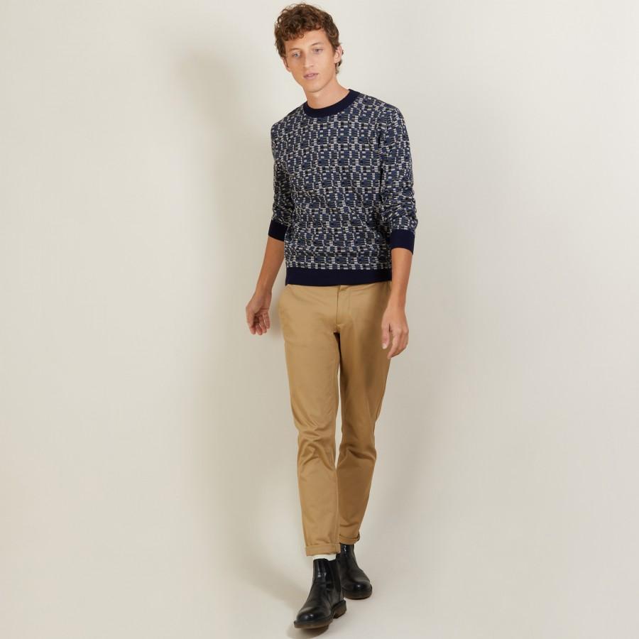 wool and cotton sweater- LORENZO