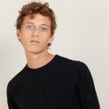 Round-neck cashmere sweater-BENOIT