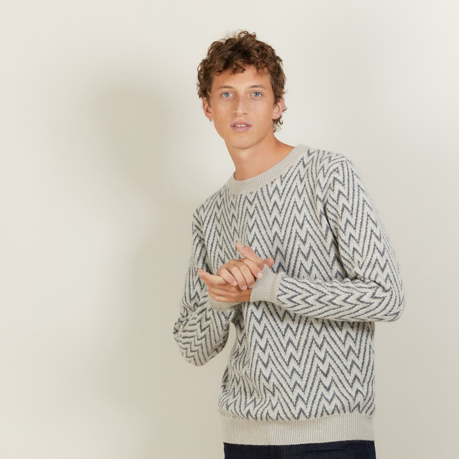 Wool and Alpaca Pullover-LUKA