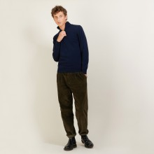 Cashmere sweater with zip neck - BLAISE