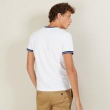 Tri-color pique cotton t-shirt - Duc
