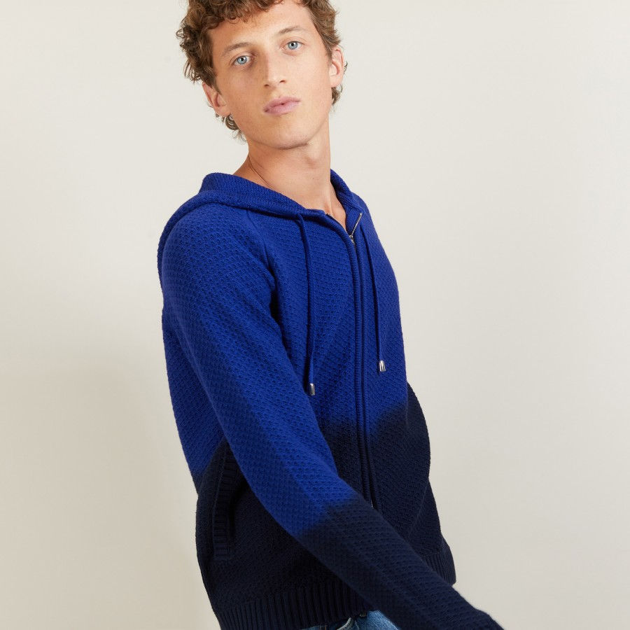 Cotton and linen hooded cardigan - Damon