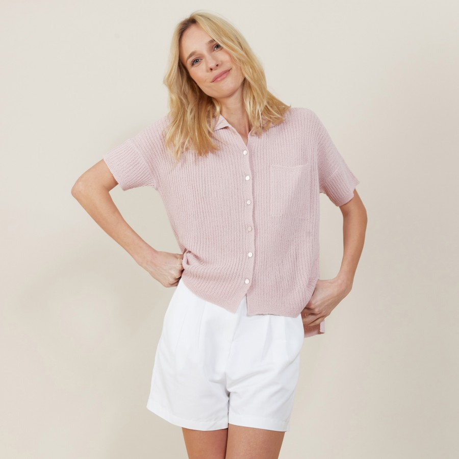 Molly-loose fit shirt in flat rib
