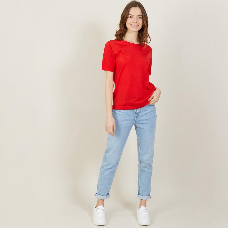 Short-sleeved T-shirt in Fil Lumière - Adeline