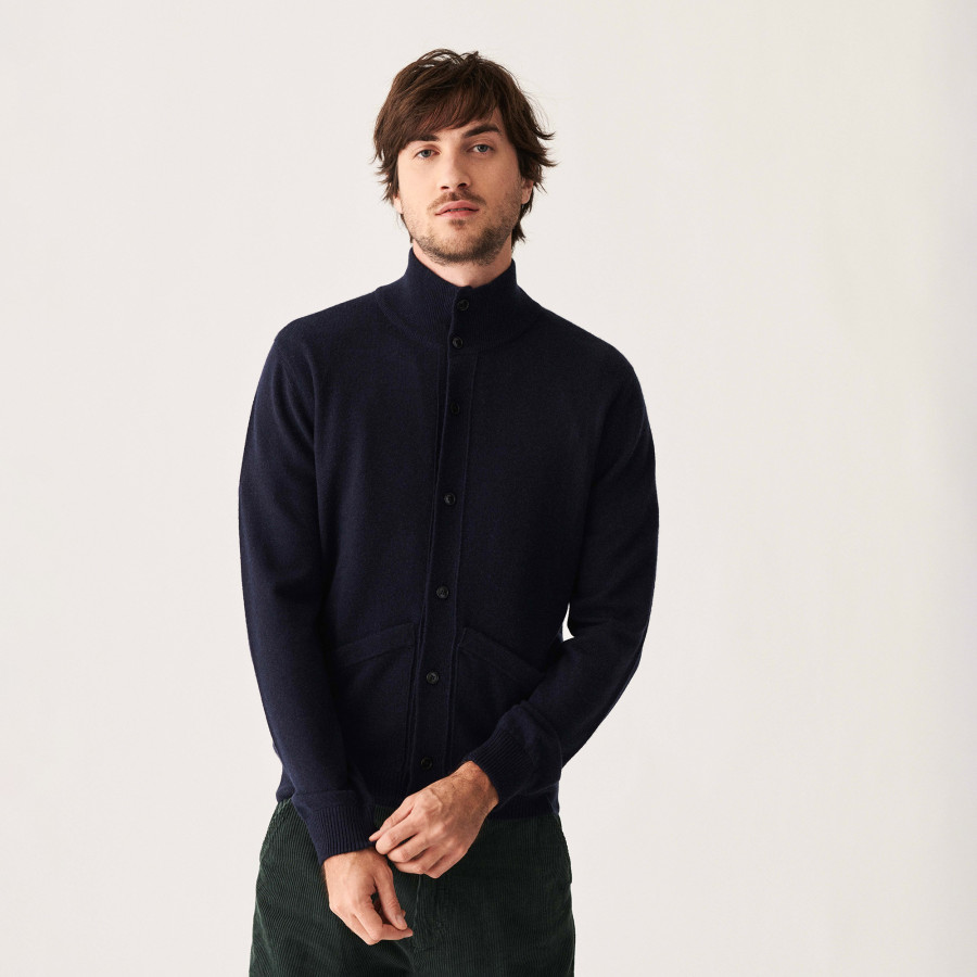 Buttoned cashmere cardigan with pockets - Erwan