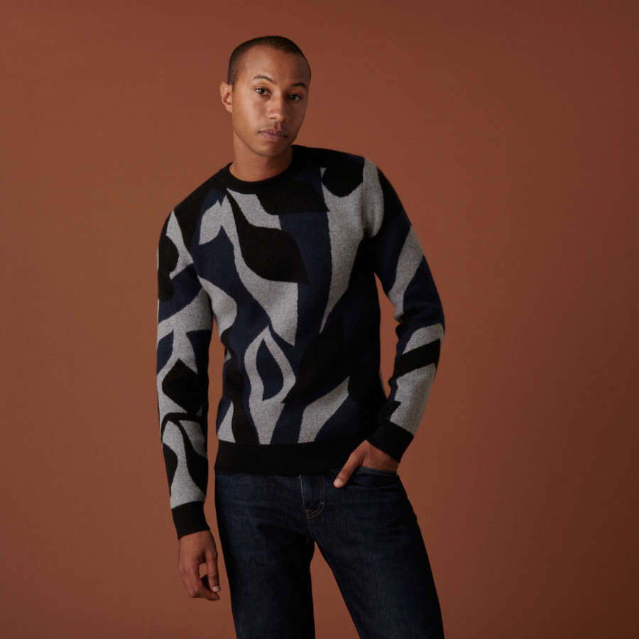 4-ply cashmere round neck sweater - Adam