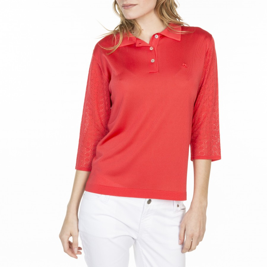 Fancy Polo Sleeve in Fil Lumière Laure