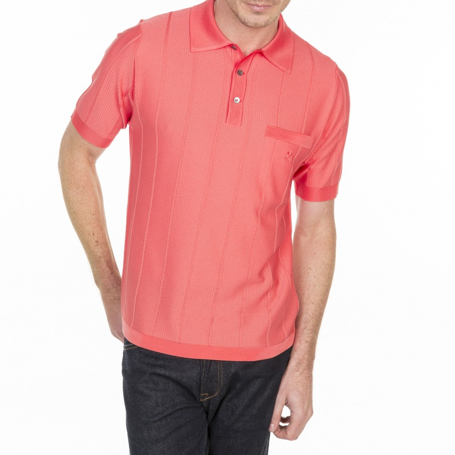 Woven Polo Shirt in Fil Lumière Ludéric