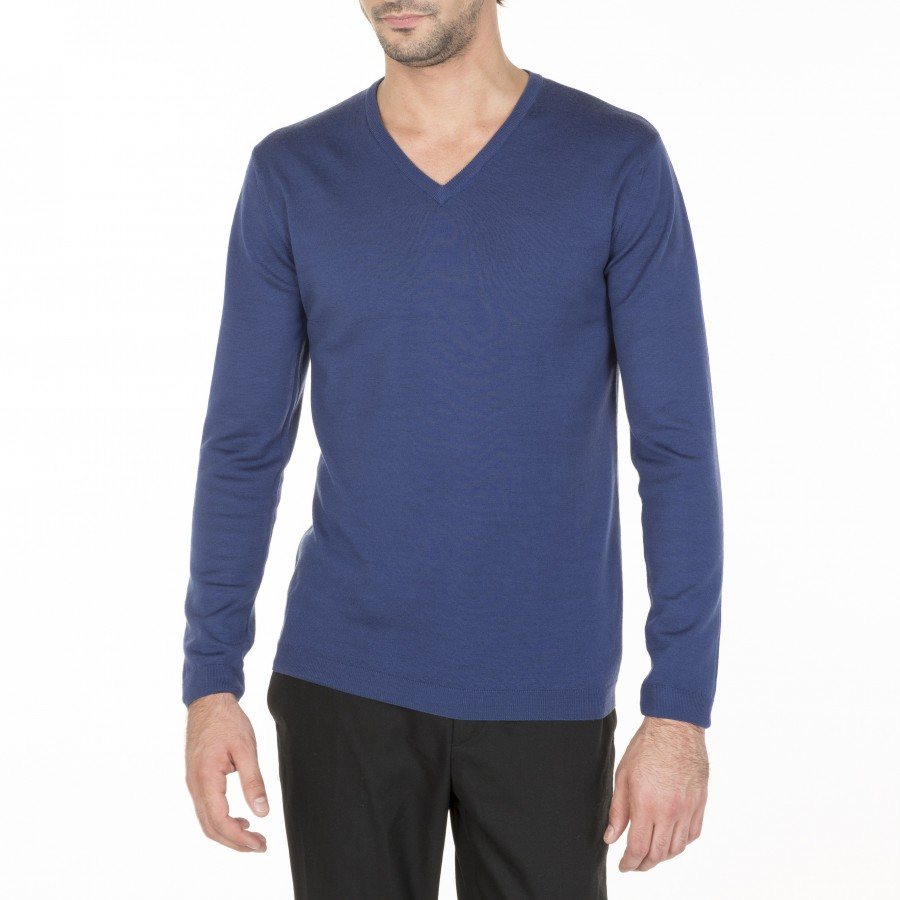 Merino Wool V-neck sweater Enricke