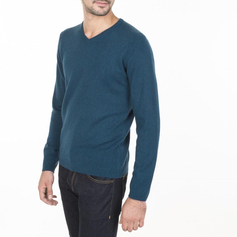 V neck cashmere sweater for men Eden