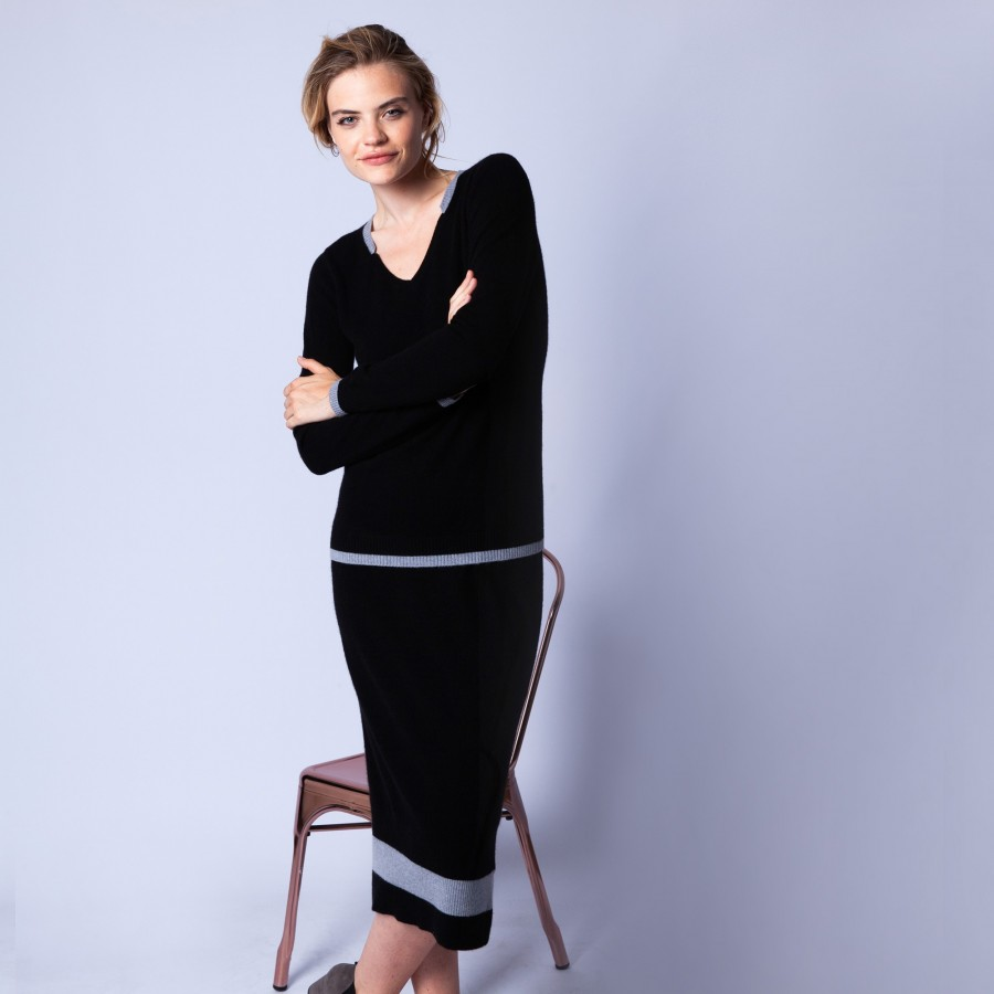 Original cashmere v-neck jumper - Etoile