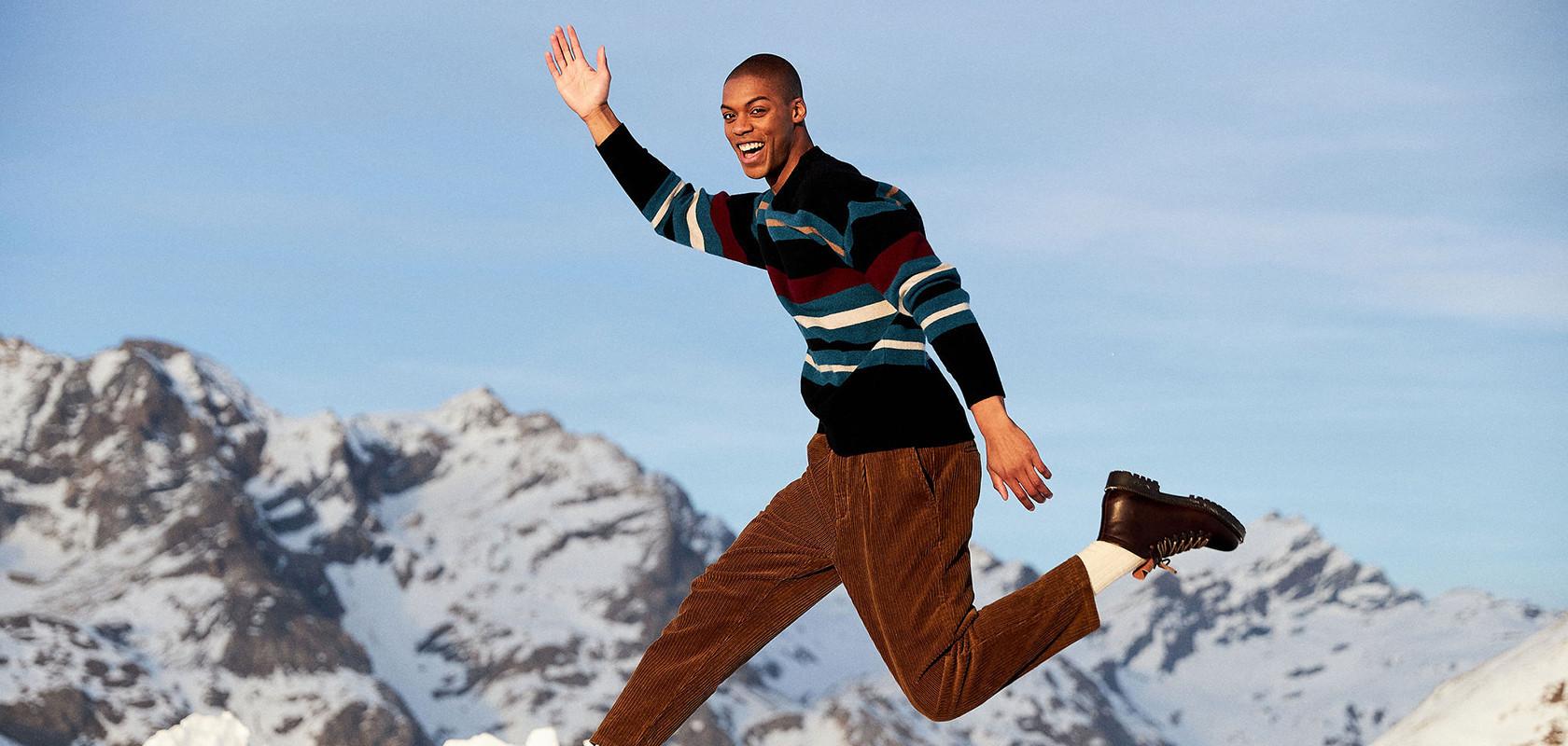 clothing wool sweater man Maison Montagut